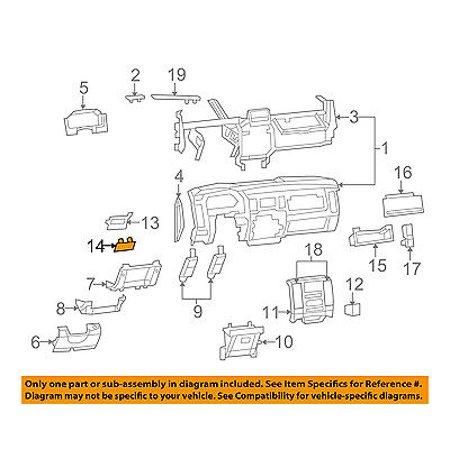 Mustang Parking Brake Handle (CHRYSLER OEM Instrument Panel Dash-Park Parking Brake Handle 1NL97XDVAB)