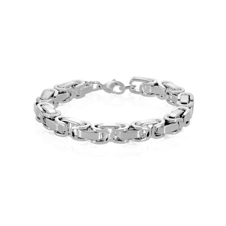- Stainless Steel Byzantine Chain Bracelet (8.5mm) - 8.5