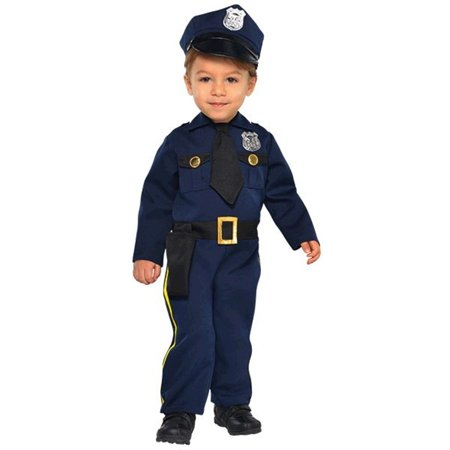 70s Cop Costume (Police Officer Cop Recruit Costume Boys Infant 12-24)