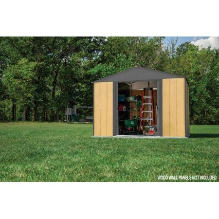 Ironwood Steel Hybrid Shed Kit 10 x 8 ft. Galvanized (Metal Sled)
