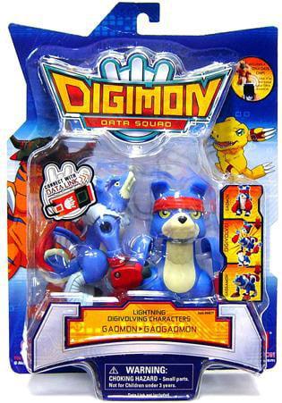 Digimon Data Squad Bandai Lightning Digivolving Basic Action Figure Gaomon to Gaogaomon by