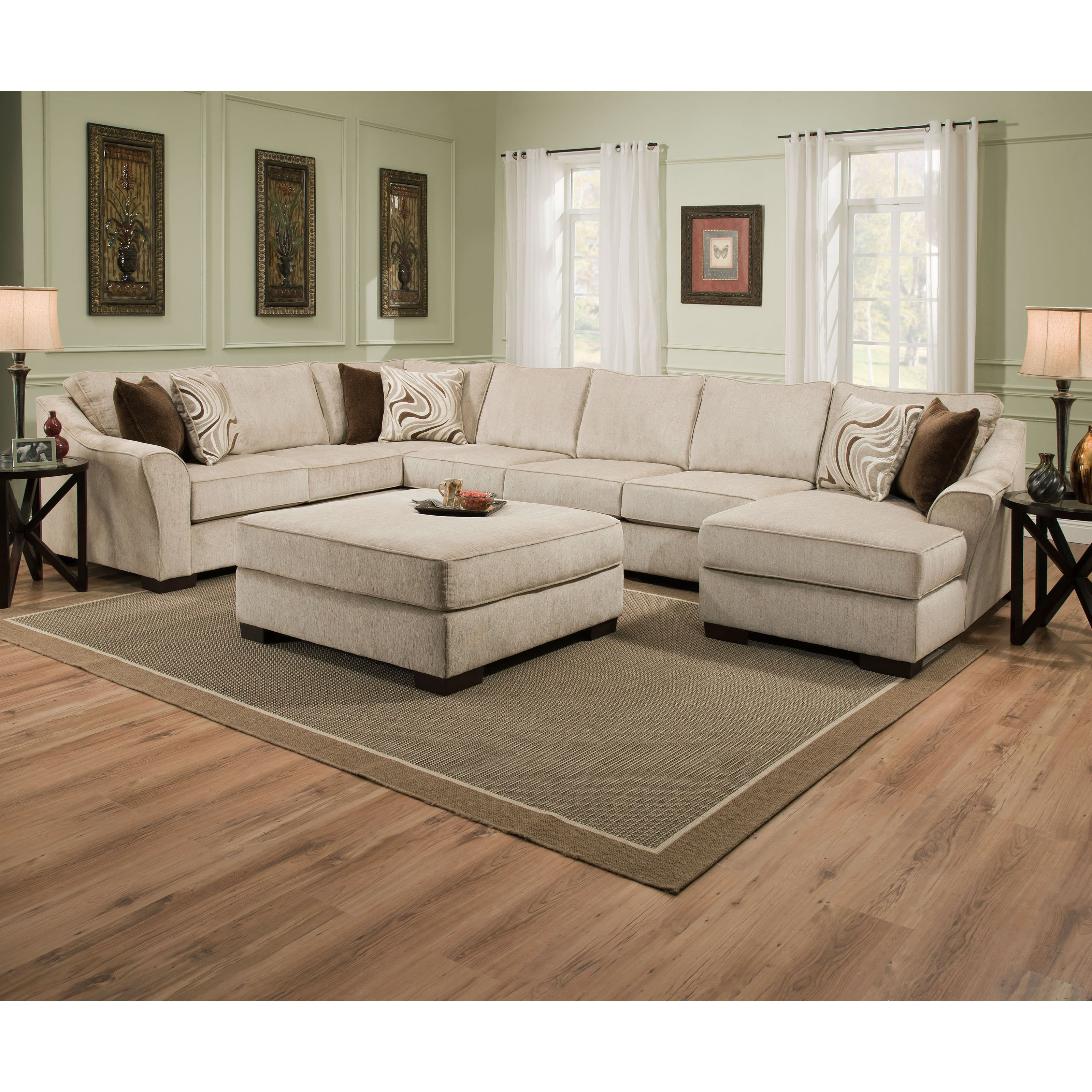 Simmons Kingley Left Facing Sofa Sectional With Chaise Walmart Com
