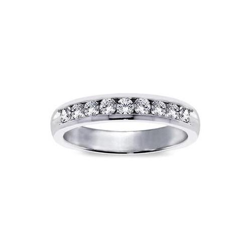 VIP Jewelry Art Platinum 3 4ct TDW Diamond Channel Set Wedding Band by Overstock