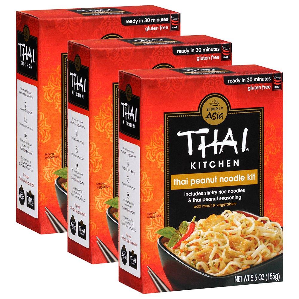3 pack thai kitchen gluten free thai peanut stir fry noodle kit rh walmart com