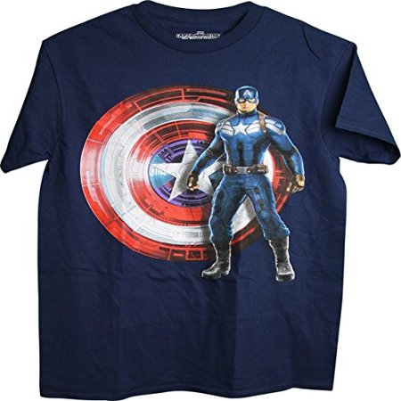 Captain America The Winter Soldier standing shield background Adult Men's T-Shirt (XX-Large)](The Winter Soldier Shirt)