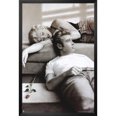 Marilyn Monroe And James Dean Poster 24 X 36In     By Eighttofourteen Ship From Us
