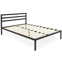 "Best Choice Products 14"" Platform Metal Bed Frame w/ Wooden Slat Support, Headboard (Queen)"