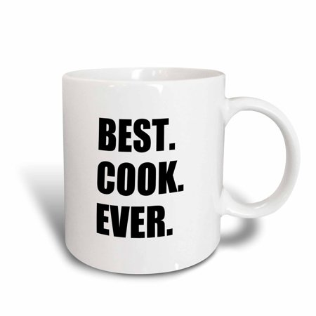 3dRose Best Cook Ever - text gifts for worlds greatest chef and cooking fans, Ceramic Mug,