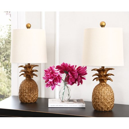 Val Pineapple Gold Table Lamp (Set Of