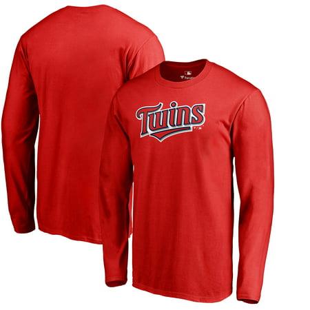 Minnesota Twins Fanatics Branded Team Wordmark Long Sleeve T-Shirt - (Fall Style Men)