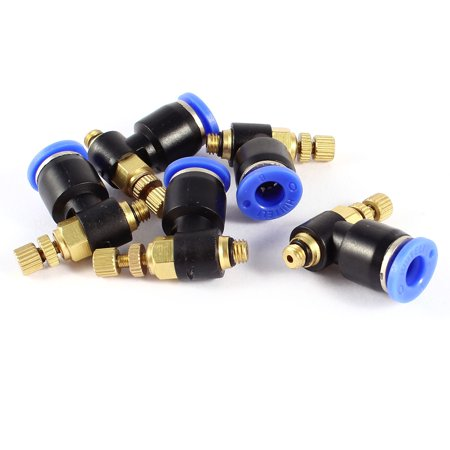 Unique Bargains 5mm Thread to 6mm Pipe Quick Connect Speed Control Pneumatic Fittings x 5 - image 1 of 1