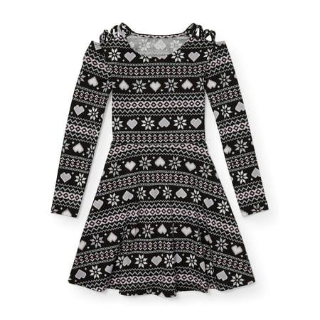 The Children's Place Heart Fairisle Long Sleeve Knit Dress (Little Girls & Big Girls)