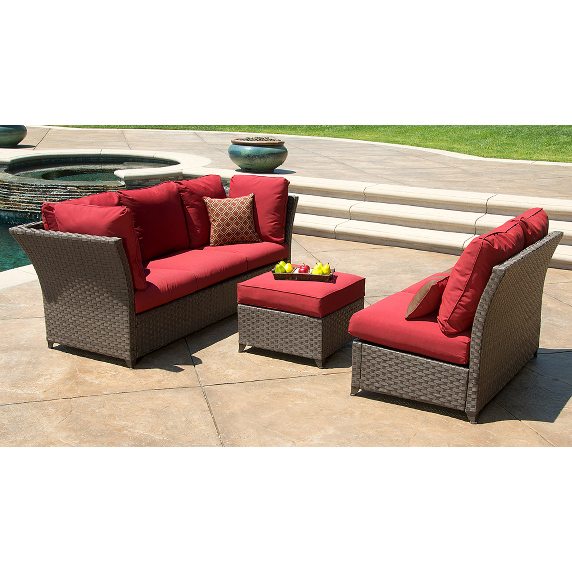 Better Homes and Gardens Rushreed 3 Piece Outdoor Sectional Sofa