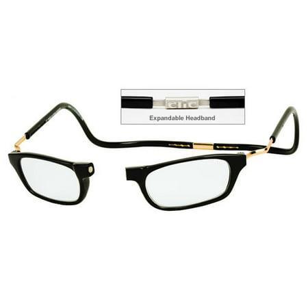 CliC Reader Single Vision XXL Frame, Black, + 3.00