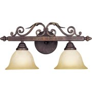 World Imports Olympus Tradition Collection 2-Light Crackled Bronze