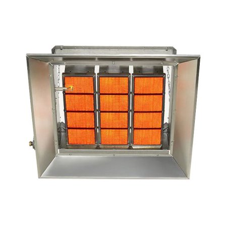 Starglo Infrared Ceramic Heaters, 100K Btu, Propane, Direct Spark