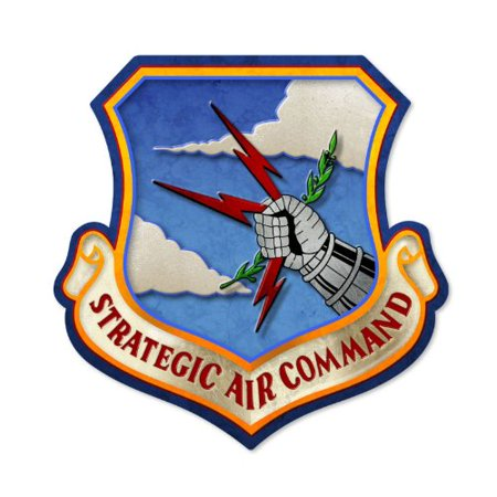 Strategic Air Command Vintage Metal Sign Military 17 X 17 Steel Not Tin  This Strategic Air Command Custom Metal Shape Measures 17 Inches By 17 Inches And    By The Vintage Sign Store