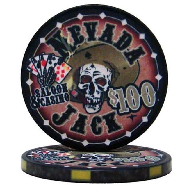 Bry Belly CPNJ-$100 25 Roll of 25 - $100 Nevada Jack 10 Gram Ceramic Poker Chip