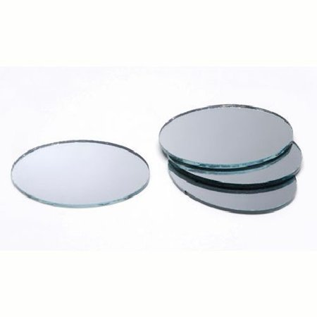 3 x 5 inch Small Oval Craft Mirrors 2 Pieces