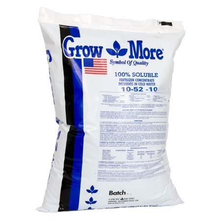 Grow More Cold Water 10-52-10 Soluble Concentrated Plant Fertilizer, 25