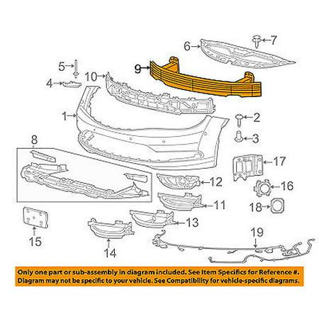Oem Bar - CHRYSLER OEM 200 Front Bumper Grille-Impact Reinforcement Bar Rebar 68096057AD