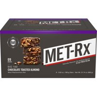 MET-Rx Big 100 Protein Bar, Chocolate Toasted Almond, 31g Protein, 9 Ct