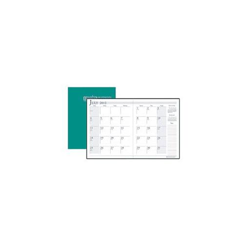 House Of Doolittle HOD26109 Academic Monthly Planner 7X10 Bright Green Stitched the product will be for the current year