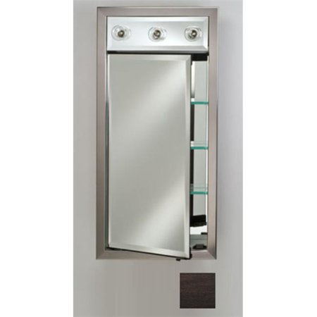 Afina Corporation SD-LC1740RTRIES 17x40 Contemporary Integral Lighted Single Door - Tribeca -