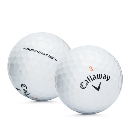 Callaway Superhot 55 Golf Balls, Used, Mint Quality, 12 Pack