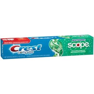 Crest Complete Whitening + Scope Toothpaste, 6.2 Oz