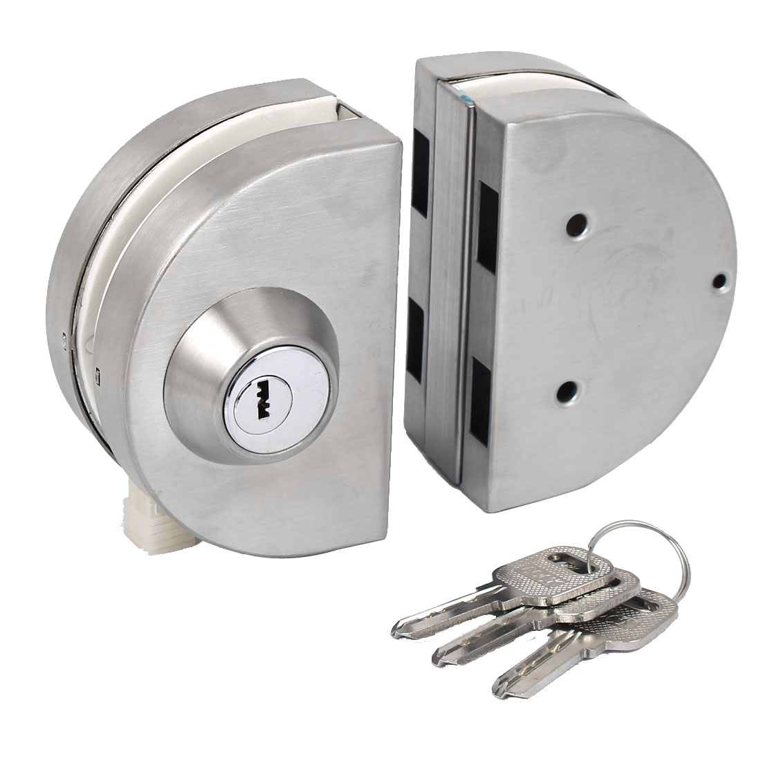 Double Bolts Type Swing Push Sliding Door Locks with Keys 8-10mm Thickness Glass