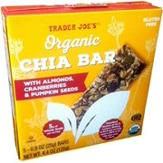 Trader Joe's Organic Chia Bars with Almonds, Cranberries, & Pumpkin Seeds, 5 Bars, Net Wt. 4.4 oz