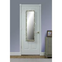 Metallic Floral Over the Door Cosmetic Armoire Mirror