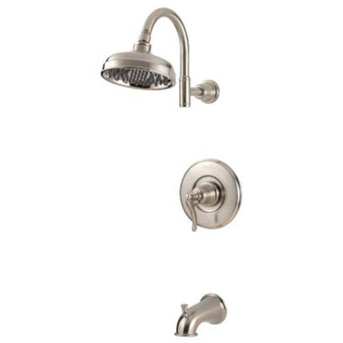 Pfister Ashfield Single Handle Pressure Balance Tub and Shower Trim Kit with Self Cleaning Shower Head,... by Price-Pfister