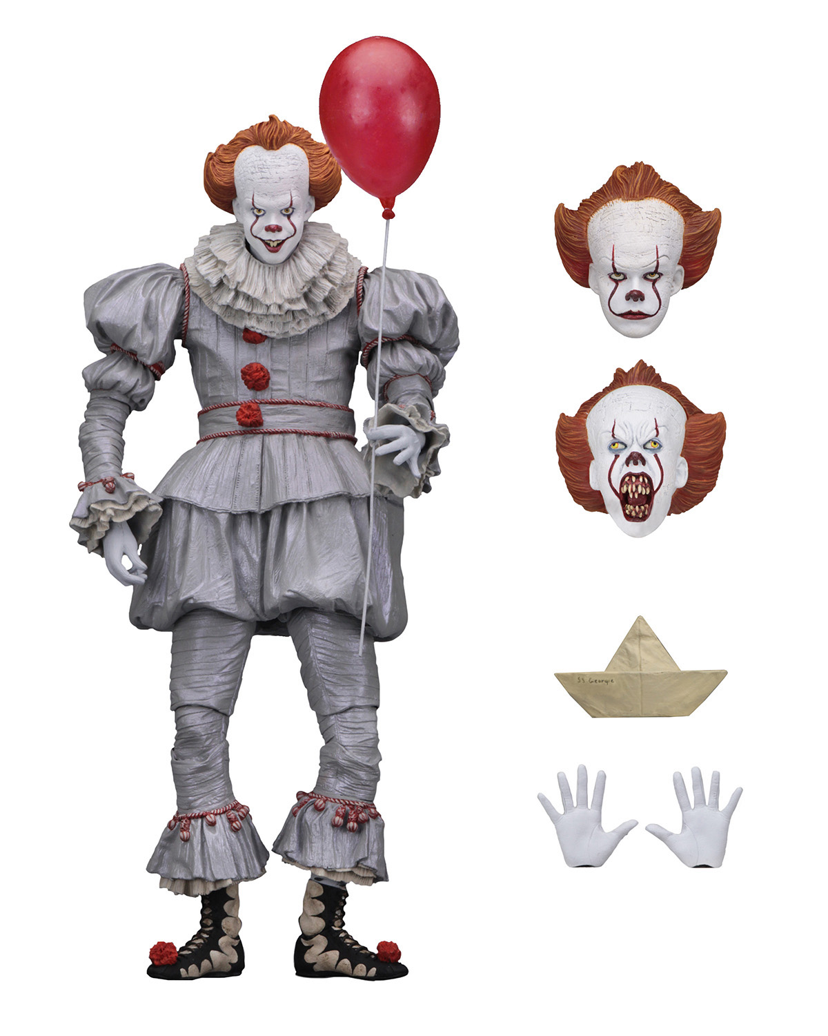 IT 7� Scale Action Figure Ultimate Pennywise (2017) by Neca