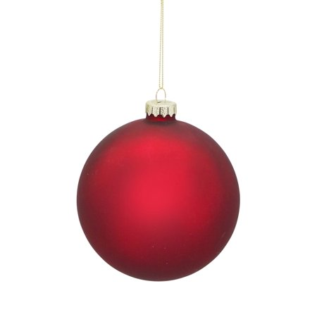 Red Christmas Ball Ornaments.Pack Of 6 Red Matte Finished Hanging Christmas Ball Ornaments 5