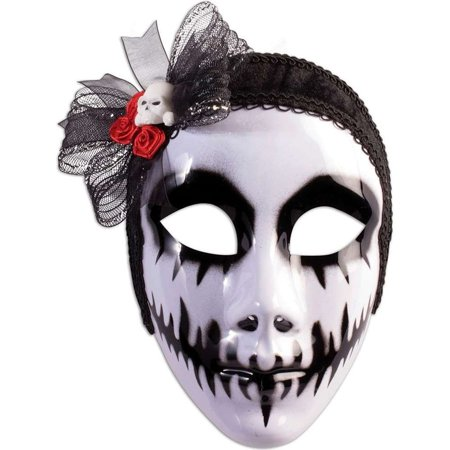 Day Of The Dead Phantom Bride Costume Mask - Day Of The Dead Costume Mask