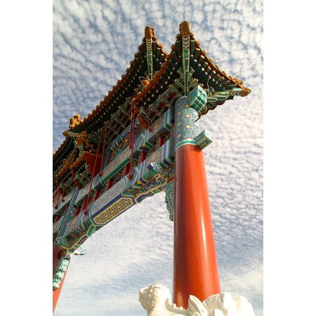Laminated Poster Architecture Temple China Himmelstor Roof Poster Print 24 X 36