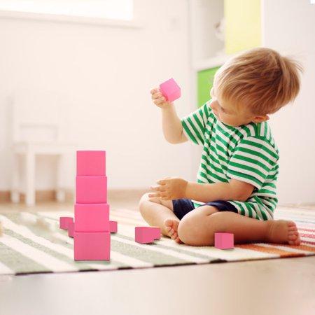 LeKing pour Montessori rose tour mathématiques jouet formation sensorielle blocs de construction en bois jouet d'éducation précoce - image 3 de 8