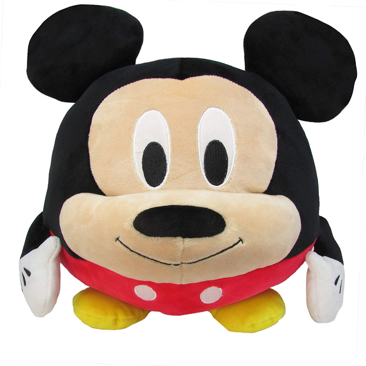 Disney Mickey Mouse Round Cuddle Pal Stuffed Animal Plush Toy, 10 Inches