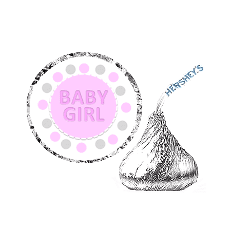 216 Baby Girl Baby Shower Party Favor Hershey's Kisses Stickers / Labels](Silver Snail Halloween Party 2017)