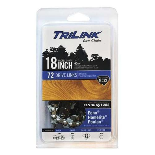 TRILINK CL75072NSTL2 Chisel Chain, 18in. L, 72 Links