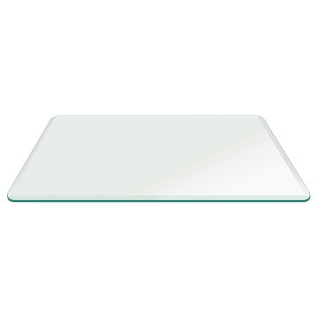 42X78 Inch Rectangle Tempered Glass Table Top 1/2