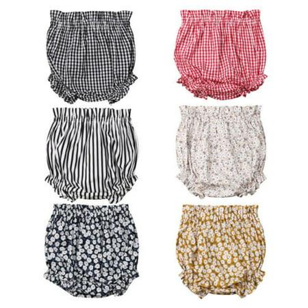 Newborn Kids Baby Boy Girls Bottoms Bloomer Shorts Diaper Cover Panties PP Pants