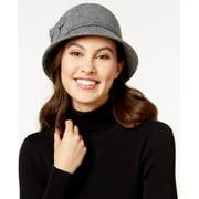 Nine West Felt Self Flower Cloche Hat (Black)