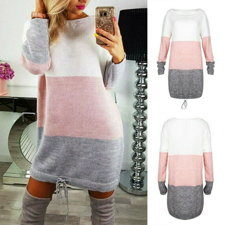 SUNSIOM Oversized Women Long Sleeve Knit Cardigan Jumper Tops Loose Casual Sweater Dress