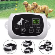 Wireless Remote Pet 3 Dog Fence No-Wire Training Containment System Collar Rechargeable Waterproof US Plug