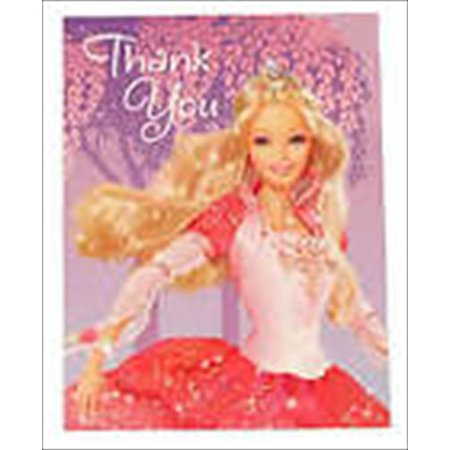 Barbie '12 Dancing Princesses' Thank You Notes w/ Env. (Princess Note)