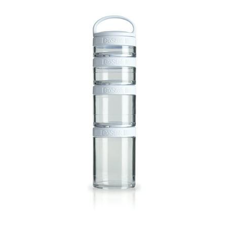 BlenderBottle GoStak Snacking Mini Containers Starter 4pk, White (Sugar Plum Toy Box)
