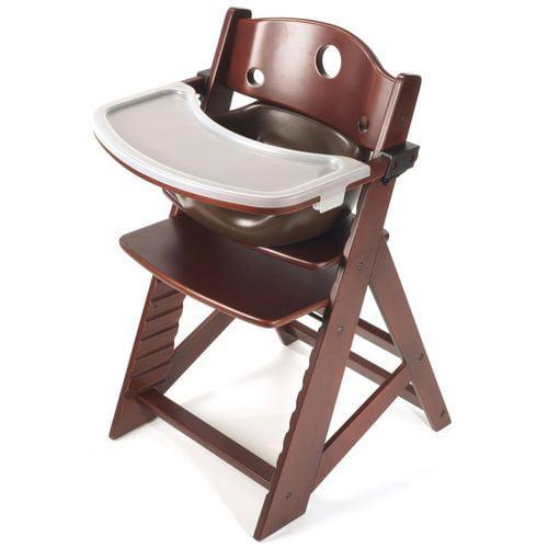 Keekaroo Height Right High Chair w/ Insert & Tray - Mahogany - Chocolate